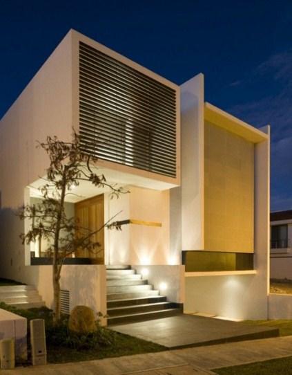 Fachadas de casas modernas con nichos
