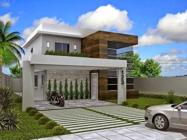 Fachadas de casas modernas con numeros