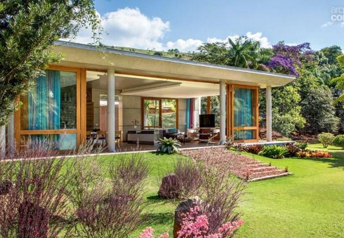 Fachadas de casas modernas con ventanas panoramicas