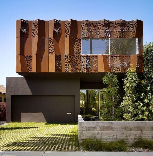 Fachadas de casas modernas con vidrio