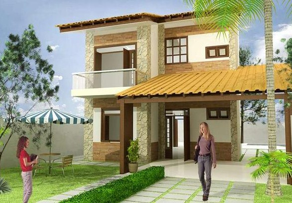 Fachadas de casas nuevas con balcon