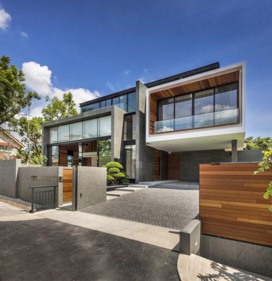 Fachadas de casas residenciales modernas