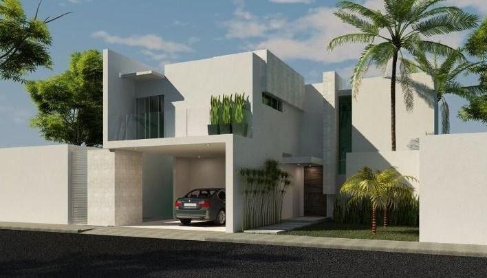 Fachadas de casas sencillas con balcon