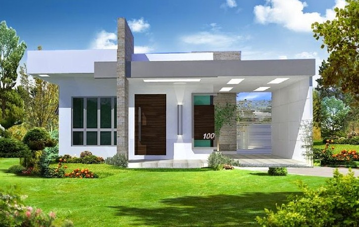 Fachadas de casas sencillas con numeros