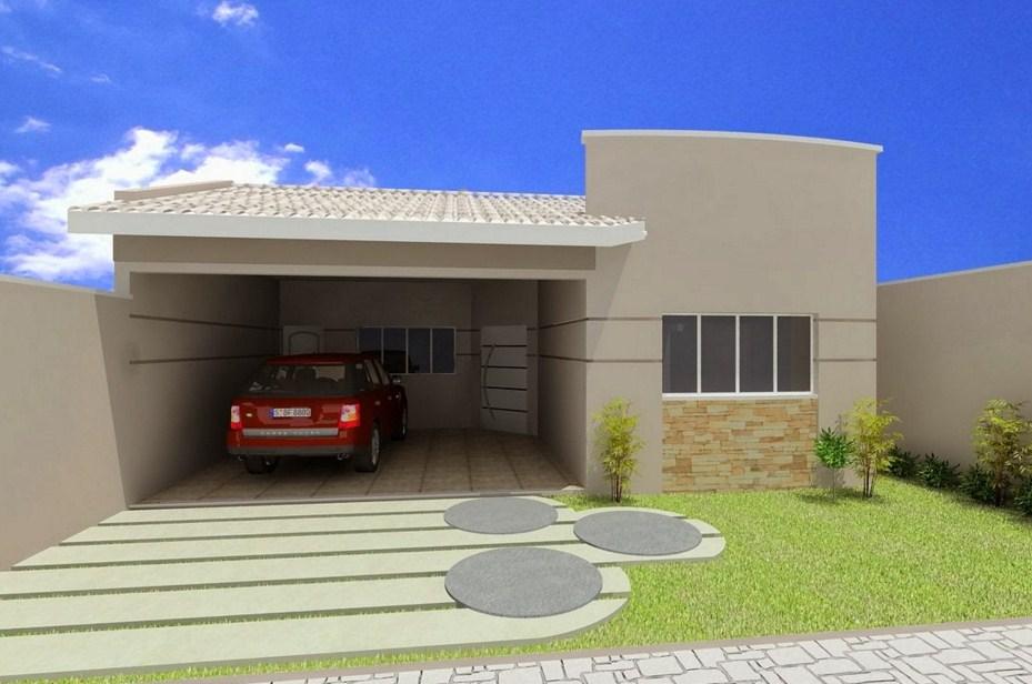 Fachadas de casas sencillas pequeñas y bonitas