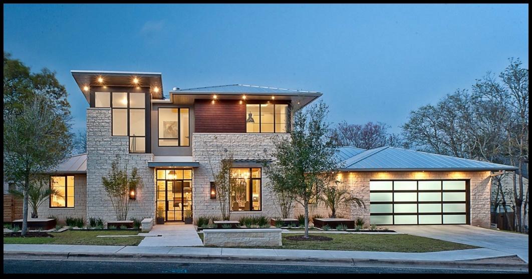 Fachadas modernas con piedra for Piedras para fachadas minimalistas