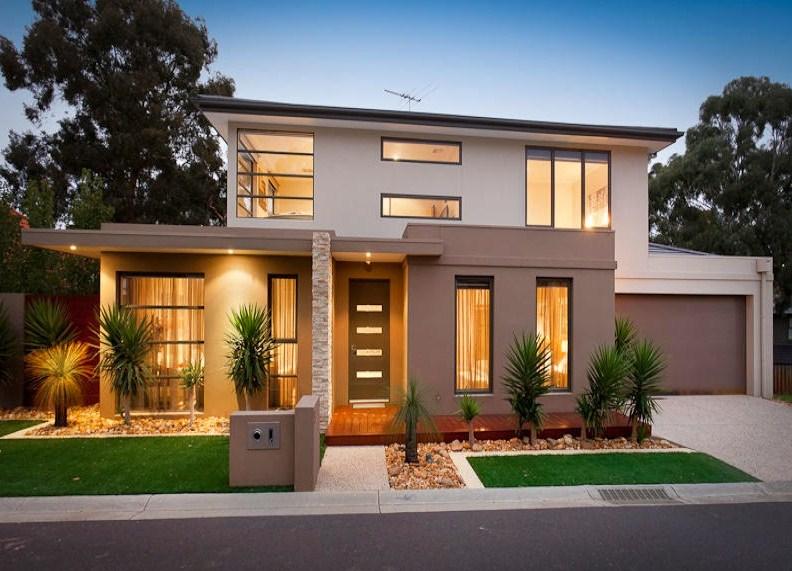 fachadas de casas con ventanales