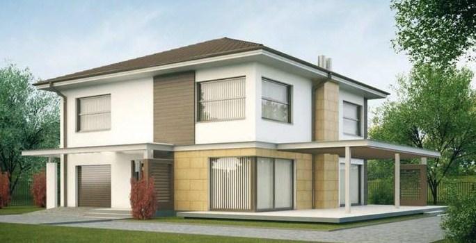 Frentes de casas residenciales