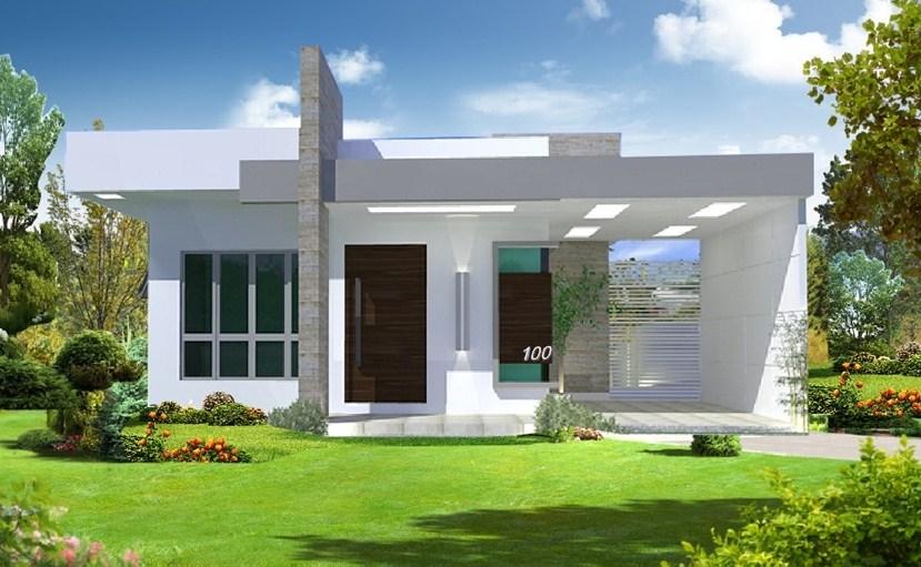 Frentes de casas sencillas y pequeñas