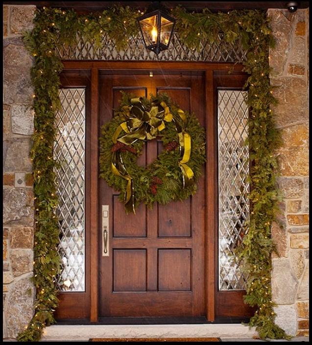 Frentes decorados para navidad