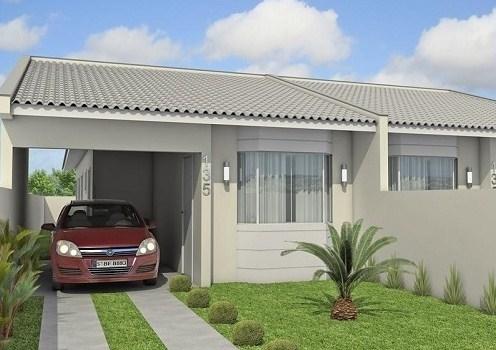 Fachadas de casas sencillas for Modelos jardines para casas pequenas