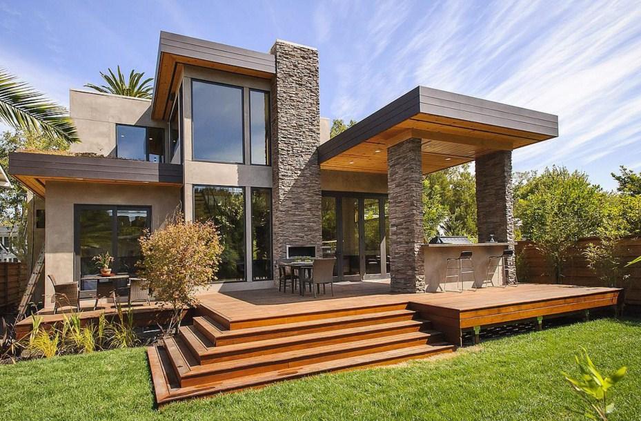 Fachadas de casas con piedra natural for Piedra natural para exterior