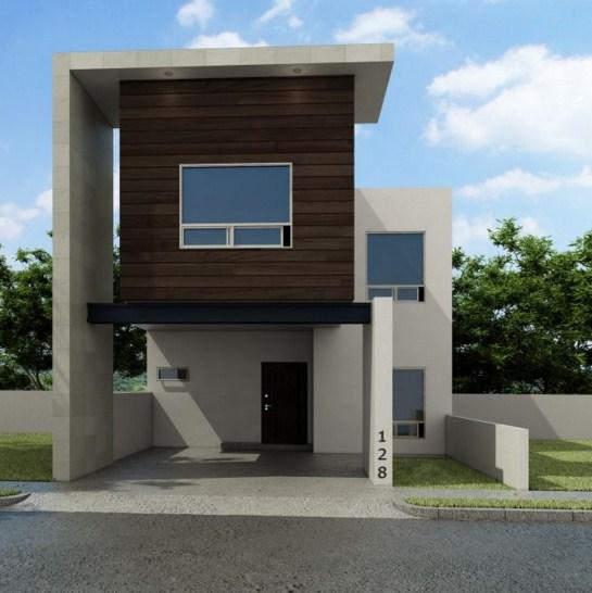 fachadas de casas con cantera chocolate