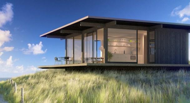 Casas con ventanas panoramicas