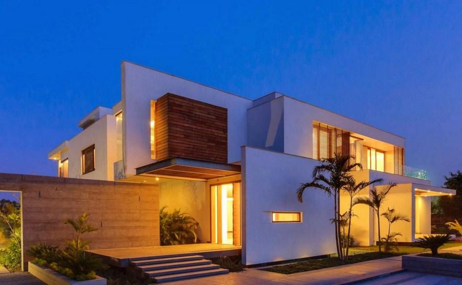 Ejemplos de fachadas de casas con volumenes
