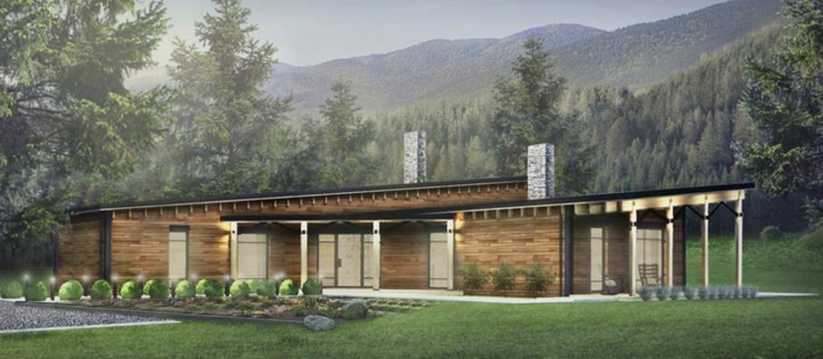 Fachada de casa en las monta as de 3 dormitorios for Tirol en techos de casas