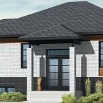 Fachada de casa moderna con garage