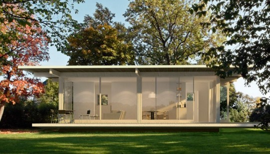 Fachadas bonitas con ventanas panoramicas
