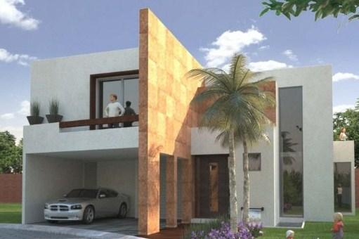 Fachadas de casas bonitas con columnas