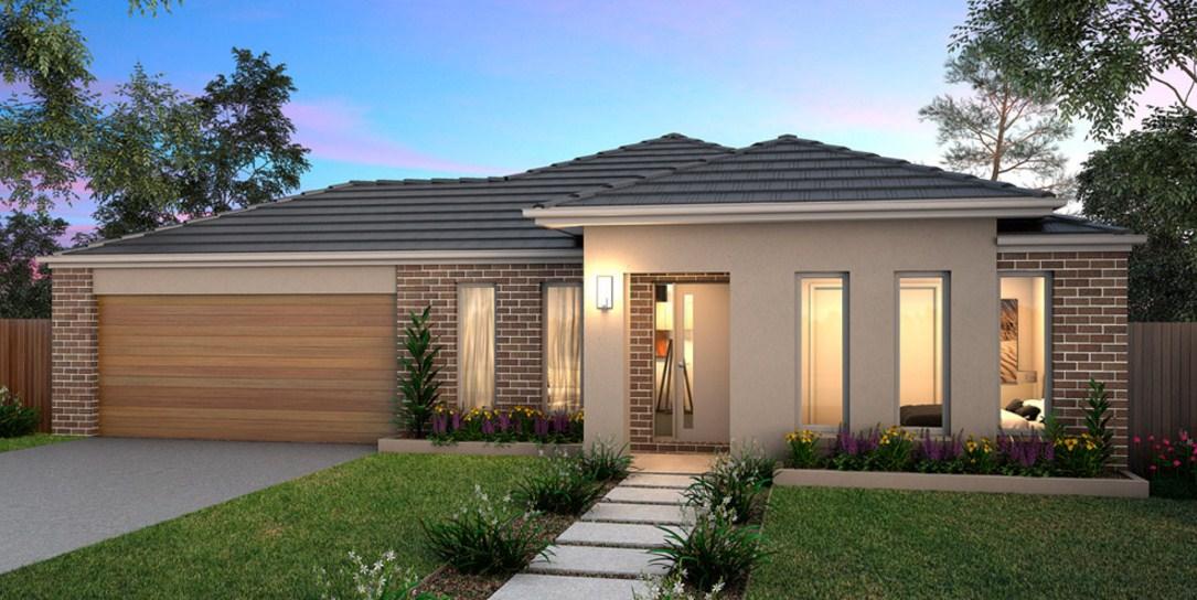 Fachadas de casas bonitas con jardín pequeño