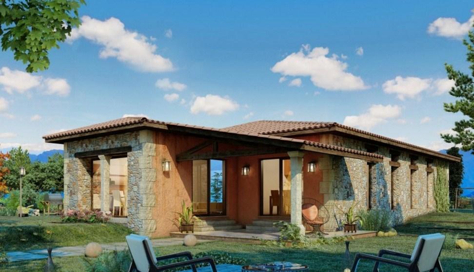 Fachadas de casas con jard n peque o for Casas para herramientas de jardin