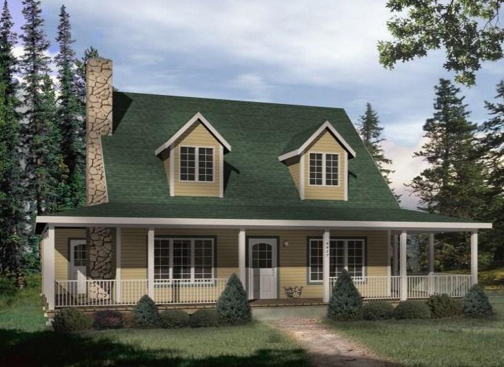 fachadas de casas pintadas de color verde
