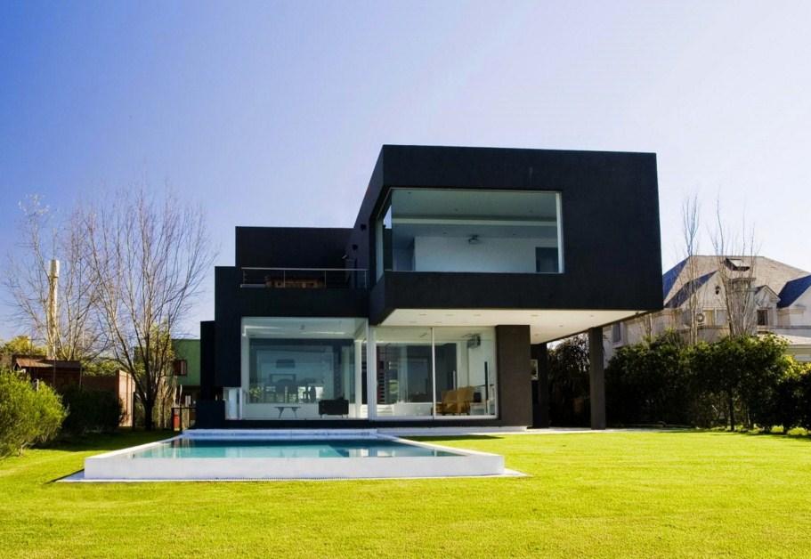 Fachadas de casas con volumenes
