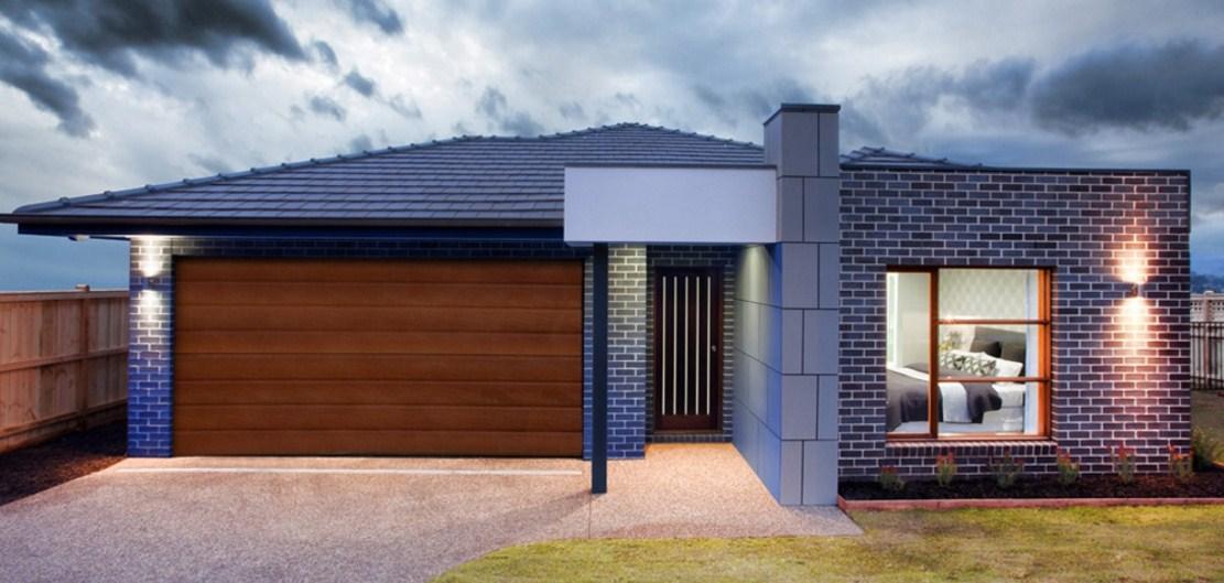 Fachadas de casas de color gris claro