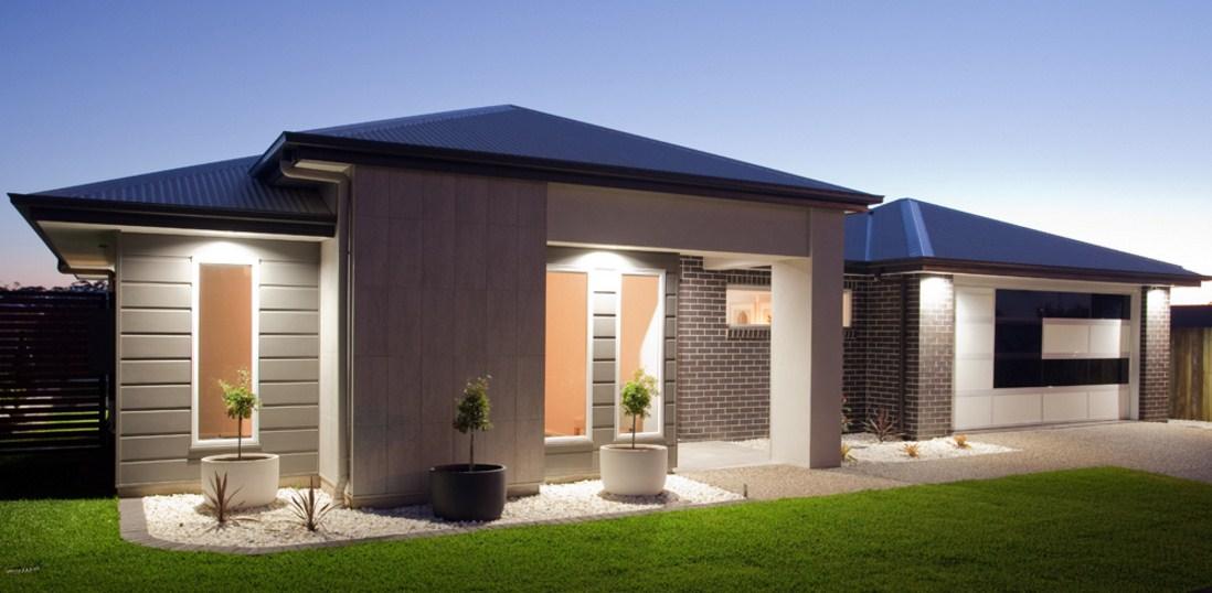Fachadas de casas minimalistas con jardín pequeño