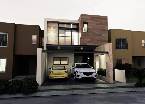 Fachadas de casas for Fachada de casas modernas con porton