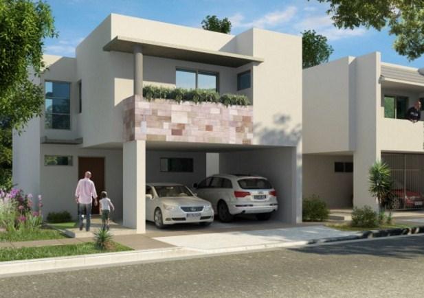 Fachadas de casas con cochera techada for Casas chiquitas y modernas