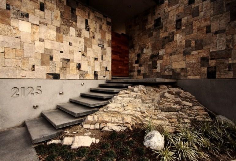 Fachadas de casas modernas con piedra volcanica