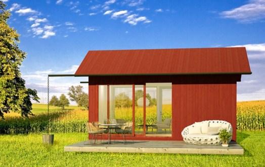 Fachadas de casas pequeñas con ventanas panoramicas