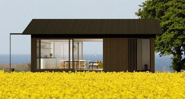Fachadas modernas con ventanas panoramicas