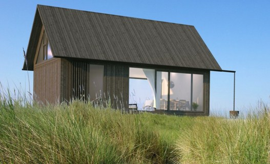Fachadas sencillas con ventanas panoramicas
