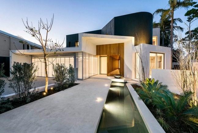 Frentes de casas con volumen