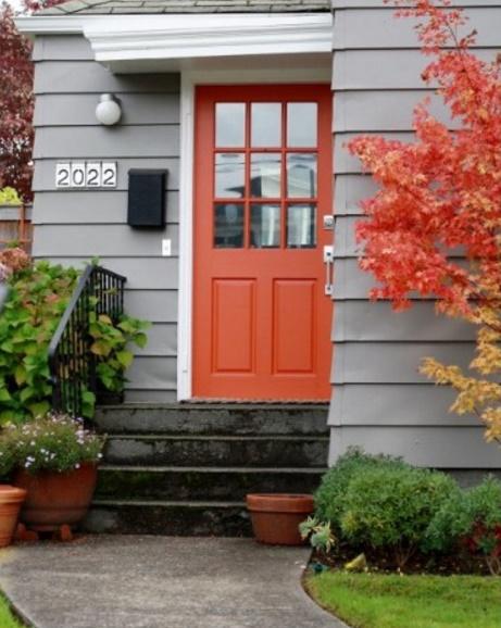 Puertas de colores for Colores para puertas exteriores