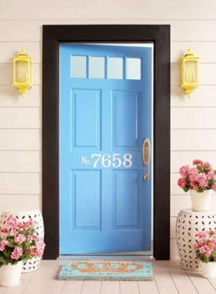 puerta de color