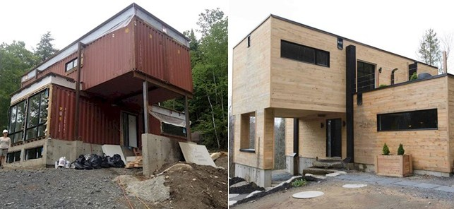 Fachadas de casas con contenedores - Casa hecha con contenedores ...