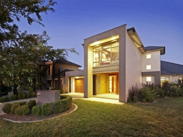 fachadas de casas con ventanas grandes