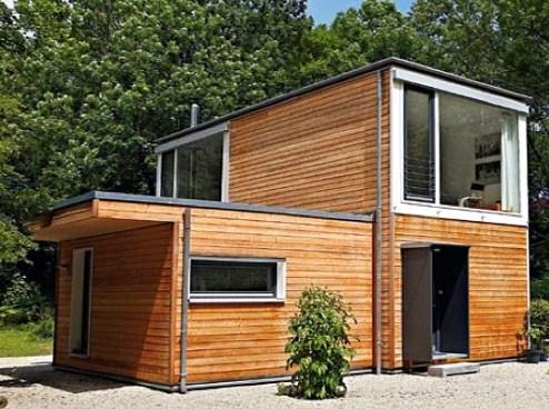 Casas de sos pisos con containers