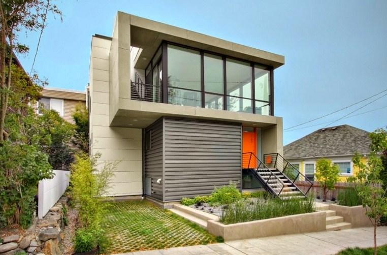 Casas modernas con balcon