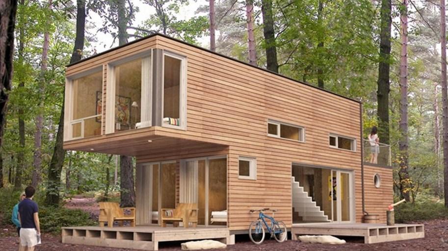 Casas modernas con contenedores