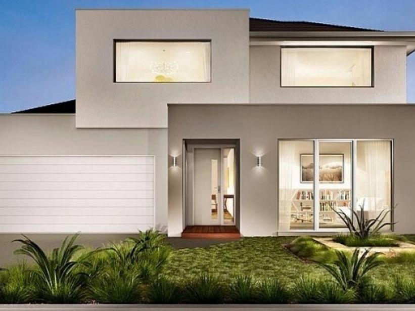 Modelos de casas minimalistas for Fachadas de dos pisos