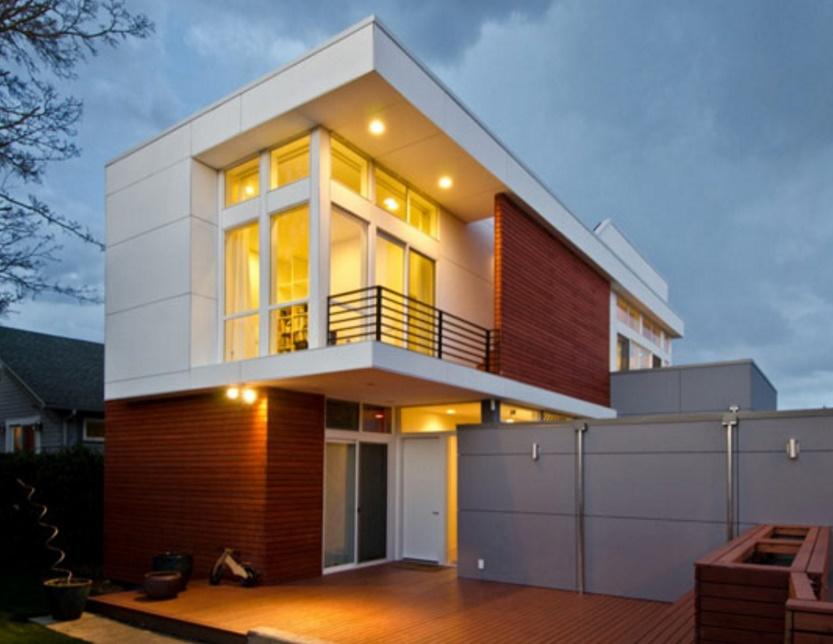 Fachadas de casas con balcon for Fachada de casas modernas con balcon