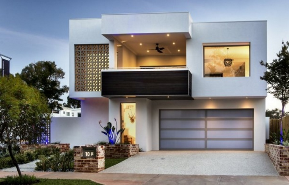 Fachadas de casas modernas con balcones for Casa moderna 3 parte 2
