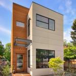 Fachada de casa moderna estilo edificio
