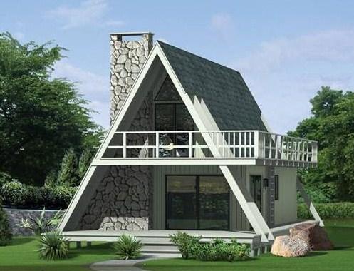 Fachadas de casas alpinas con piedra y madera
