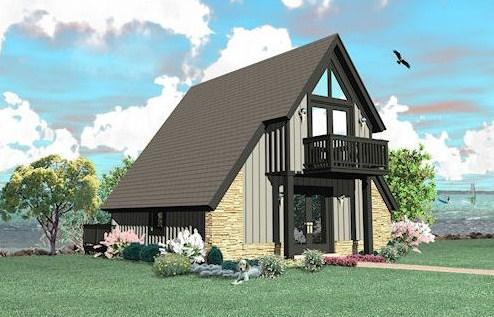 Fachadas de casas alpinas sencillas