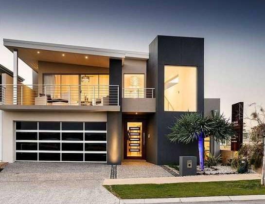Fachadas de casas con balcon moderno